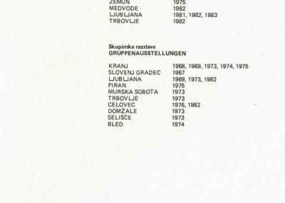 Žerko Stane 1984 katalog 3m