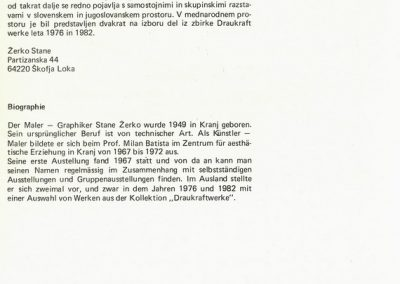 Žerko Stane 1984 katalog 3n