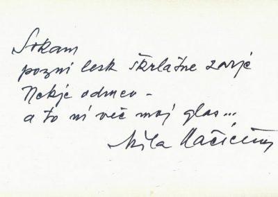 Amaletti Marjan 1986 25 let dela Tržiške knjižnice vabilo 3b