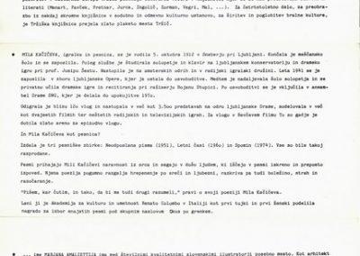Amaletti Marjan 1986 25 let dela Tržiške knjižnice vabilo 3c
