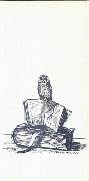 Amaletti Marjan 1986 25 let dela Tržiške knjižnice vabilo 3d