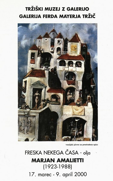 Amalietti Marjan 2000 Freska nekega časa olja vabilo 3a