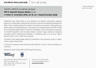 Batič Stojan 2016 Miti in legende vabilo 3b