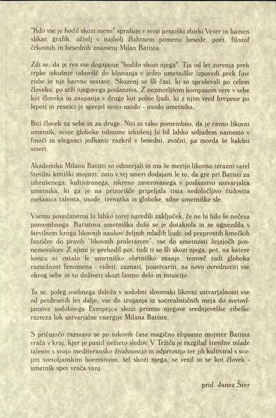 Batista Milan 1998 Tokovi časa vabilo 3c