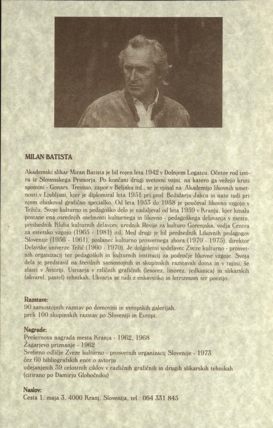 Batista Milan 1998 Tokovi časa vabilo 3d