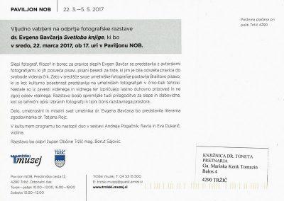 Bavčar Evgen 2017 Svetloba knjige vabilo 3b
