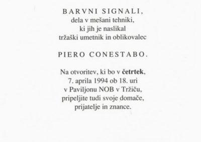 Conestabo Piero 1994 Barvni signali vabilo 3b