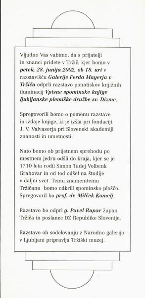 GRAHOVAR Simon Tadej Volbenk 2002 vabilo 3b