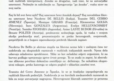 Golja Katarina et al 1999 mednarodna razstava Ženske v umetnosti vabilo 3d
