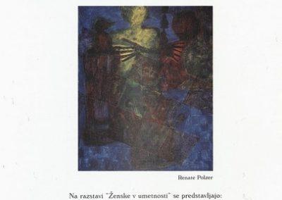 Golja Katarina et al 1999 mednarodna razstava Ženske v umetnosti vabilo 3f