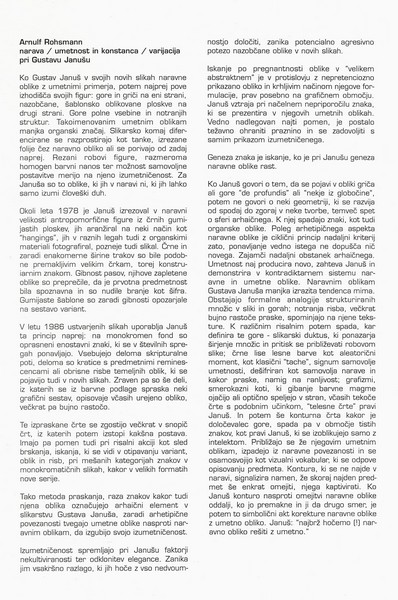 Januš Gustav 1997 Odrešene ploskve katalog 3c