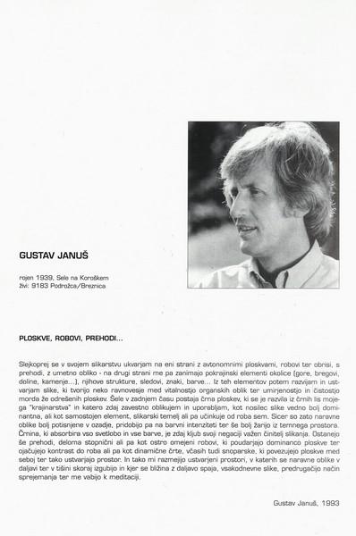 Januš Gustav 1997 Odrešene ploskve katalog 3f