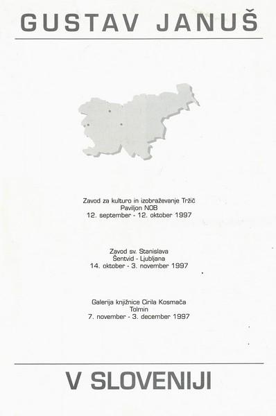 Januš Gustav 1997 Odrešene ploskve katalog 3h