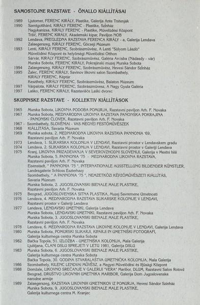 Kiraly Ferenc 1998 Razklenjeno v prostoru vabilo 3d