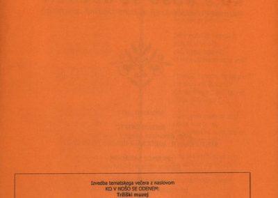 Knific Bojan, Šarabon Franci, Ankerst Franc 2005, Ko v nošo se odenem vabilo 3c
