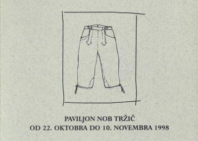 Makarovič Marija 1998 Oblačilna kultura v Rožu vabilo 3a