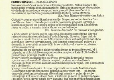 Mayer Ferdo 1992 La tache vabilo 3c