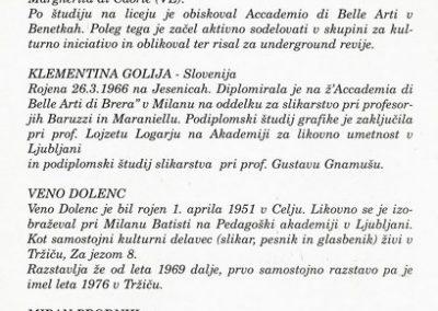 Mednarodna likovna razstava Sožitje umetnosti Hrvatske, Italije in Slovenije 2000 Meje Frontieri vabilo 3d