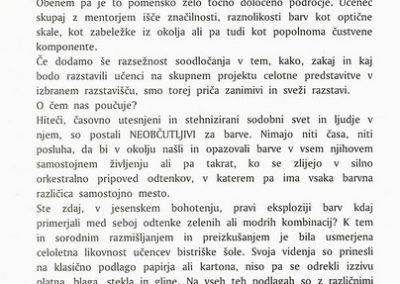 OŠ Bistrica 1994 Čudoviti svet barv vabilo 3c