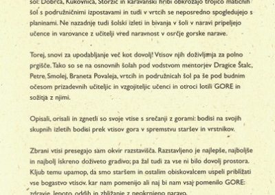 OŠ Križe OŠ Bistrica pri Tržiču OŠ Tržič VVO Tržič 2002 Gore vabilo 3c