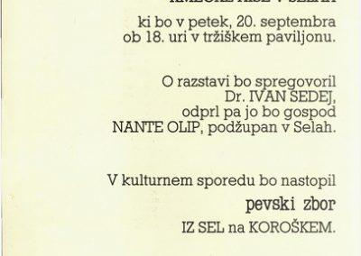 Občina Sela na Koroškem lastnik 1991 Kmečke hiše v Selah vabilo 3b