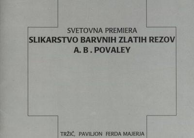 Povaley A.B. 2005 Slikarstvo barvnih zlatih rezov katalog 3a