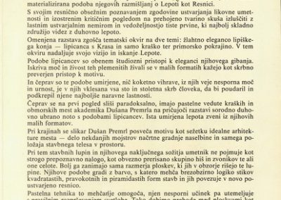 Premrl Dušan 1992 Pronicanje k izviru lepote vabilo 3c