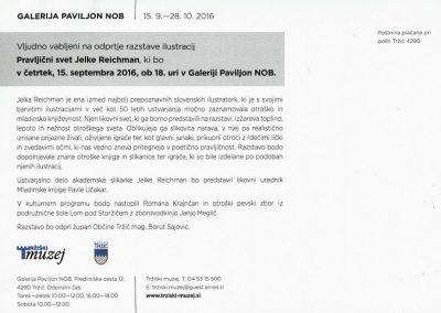 Reichman Jelka 2016 Pravljični svet vabilo 3b