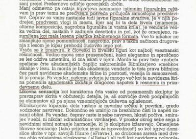 Ribnikar Cene 1992 Popotovanja vabilo 3c