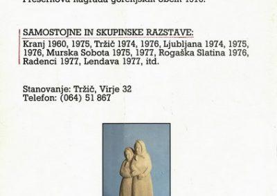 Ribnikar Cene 1992 Popotovanja vabilo 3d