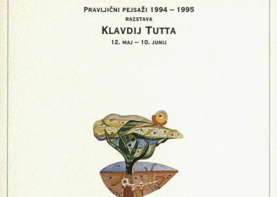Tutta Klavdij 1995 Pravljični pejsaži 1994 - 1995 vabilo 3a