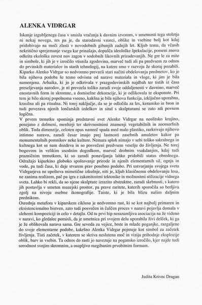Vidrgar Alenka 1996 Skulpture katalog 3d