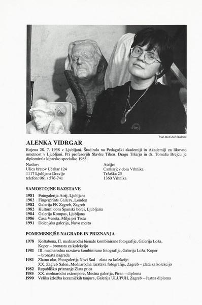 Vidrgar Alenka 1996 Skulpture katalog 3p